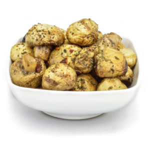 Grilled mushrooms marinated in oil and herbs