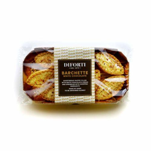 barchette white chocolate cream