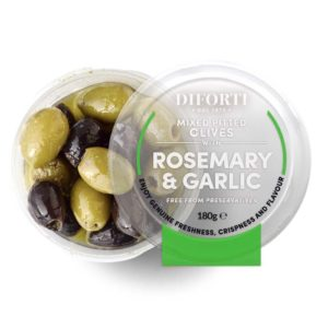 Garlic & Rosemary Mixed Pitted Olives