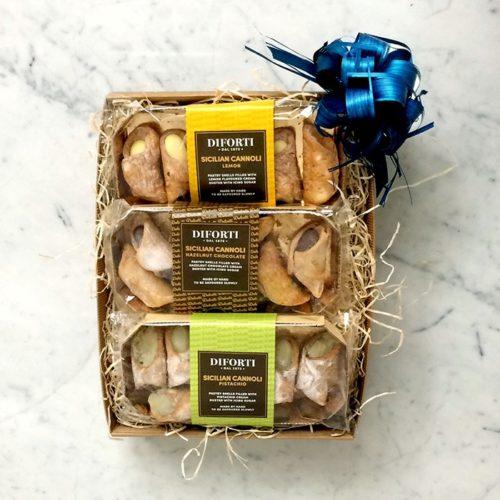 Sicilian Cannoli Trio Gift tray
