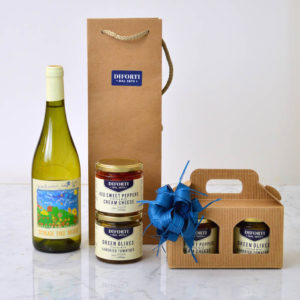 White wine & antipasti gift